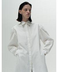 Amomento Long Shirts Dress - White
