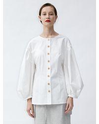 AEER Slim Button Down Shirt White
