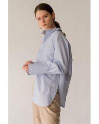 AEER Shirts Back Strap Cotton Bls - Blue