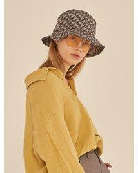 13Month 13m Pattern Bucket Hat - Gray