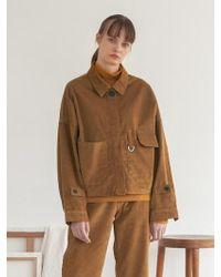 TARGETTO - Oversize Corduroy Jacket Camel - Lyst