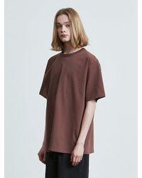 VOIEBIT 16color Premium Cotton T-shirt Brown