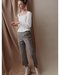 Petite Studio Bennet Trousers Plaid - Grey
