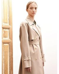 AVA MOLLI Emily Double Trench Coat Beige - Natural
