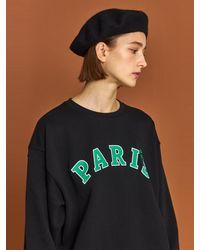 HIDDEN FOREST MARKET Paris Sweatshirt - Black
