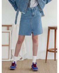 TARGETTO - Denim Skirt Blue - Lyst