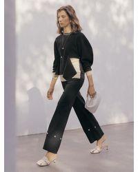 J.CHUNG Nilo Button Trouser - Black