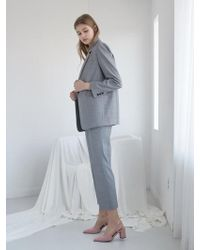NILBY P - Suit Jacket Grey - Lyst