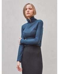 YAN13 - Winter Semi Wool Turtleneck_blue Green - Lyst
