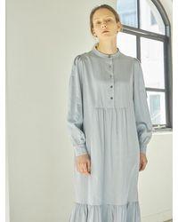 HIDDEN FOREST MARKET Sophie Dress_grayish Blue