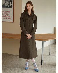 F.COCOROMIZ Tailored Dress - Brown