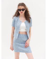 VEMVER Suzy Tweed Mini Skirt - Blue