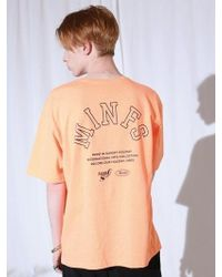 MIGNONNEUF - Arch Lettering Tee Neon Orange - Lyst