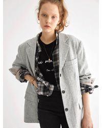 OUI MAIS NON Nottingham Wool Jacket - Gray