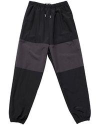 VLADVLADES Nylon Metal Block Jogger Trousers - Black
