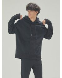 A.GLOWW - Insize Lettering Embroidery Hoodie Black - Lyst