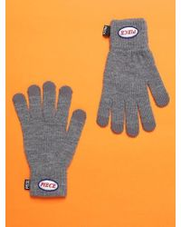 W Concept - Piece Icon Smart Gloves Grey - Lyst