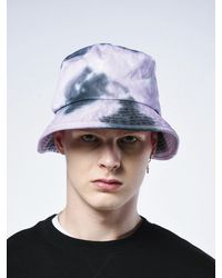 SHETHISCOMMA Tie-dye Washed Bucket Hat Purple