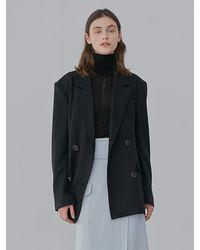 among A Wool Twill Jacket - Black