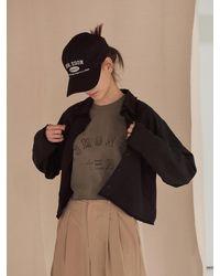 13Month Cropped Fringe Trim Shirt Black