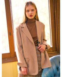 LIUNICK - Garconne Tailored Jacket Beige - Lyst