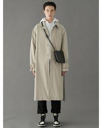 VOIEBIT Trench Mac Coat Beige - Natural