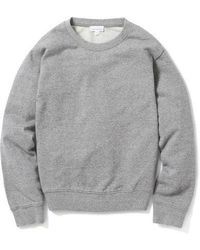 AECA WHITE - Terry Light Sweatshirt Grey - Lyst