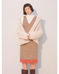 W Concept - Lace Check Dress_brown - Lyst