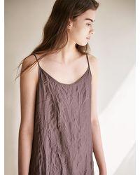 AVA MOLLI Crease Slip Dress - Brown