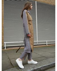 AVA MOLLI - Janice Trench Coat Brown - Lyst