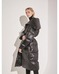 COLLABOTORY - Duck Down Belted Long Padded Parka Black - Lyst