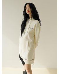 Noir Jewelry D Line Dress - White