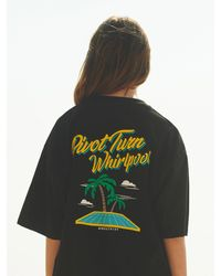 ANOUTFIT Overfit Whirlpool T-shirt - Black