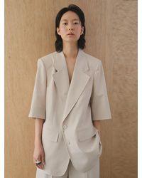 AEER Half Sleeve Jacket Light Beige - Natural