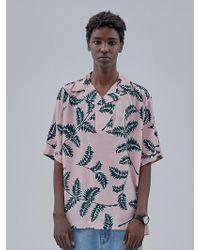 OWL91 - Hawaiian Collar T-shirts_pink - Lyst