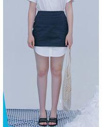 Blank Fake Shirt Skirt - Black