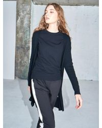 AYIHOLIC CASHMERE - Merino Wool Open Front Cardigan Black - Lyst