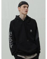 XTONZ - [unisex]xt34 Slit Embroidery Hoodie T Shirts Blac - Lyst