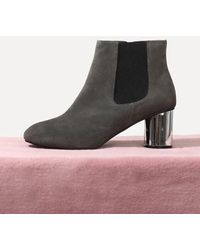 LAGRAZIA - 71851gy Scarlett Metallic Ankle Boots - Lyst