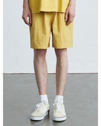 VOIEBIT V014 Nylon Banding Short Pants Yellow