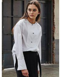 COLLABOTORY - Hepburn Tuxedo Oversize Shirt - Lyst