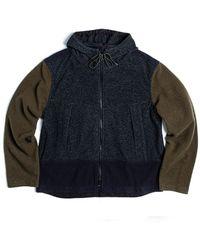 Eastlogue Field Wool Zip-up Jacket Gray&navy&olive - Blue