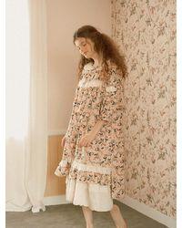 ULLALA PAJAMAS Dear Berry Dress - Natural