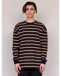 URBANDTYPE Label Stripe Tee Shirt - Black