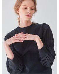 PLOT Balloon Sleeve Knit Black