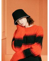 SLEEPYSLIP [unisex] Stitch Wool Bucket Hat(2color) - Natural