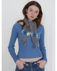 Baby Centaur Bell Knit Muffler (3 Colors) - Blue