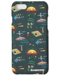 W Concept - Vacationer Phone Case Green - Lyst