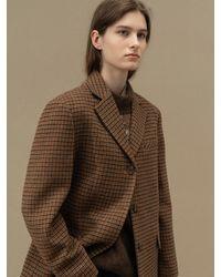 AVA MOLLI Tweed Three Button Coket - Brown