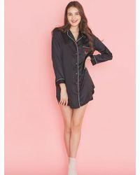 EBLIN - Romantic Rose Black Dress Pajama - Lyst